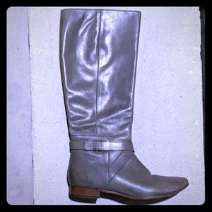 Cole Haan grey leather knee riding boots 8.5